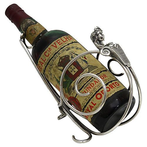Art Deco Wine Caddy w/ Match Striker