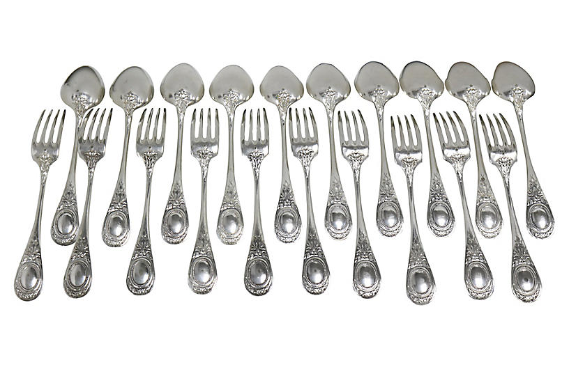 Christofle Oversized Cutlery, Svc for 10