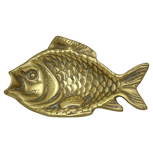 Antique English Brass Fish Dish