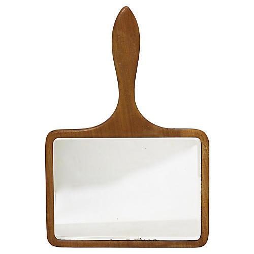 Mid-Century Barber Shop Hand Mirror
