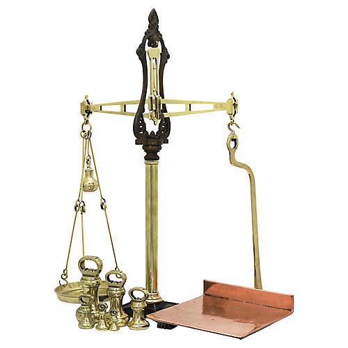 Large Antique English Balance Scale