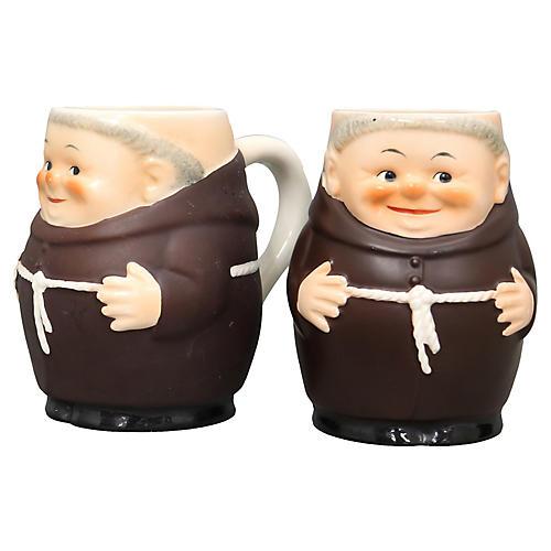 Goebel Friar Tuck Mugs, Pair