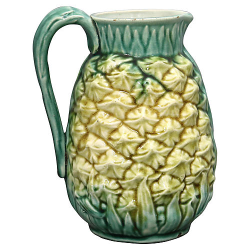 Antique English Majolica Pineapple Jug