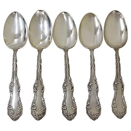 Sterling Jones Serving Spoons, S/5