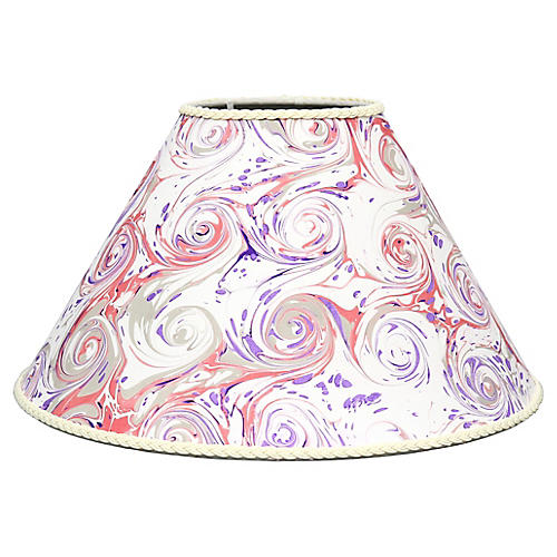 French Hand-Marbled Paper Lampshade