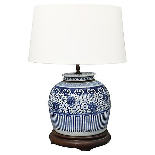 Antique Ginger Jar Table Lamp