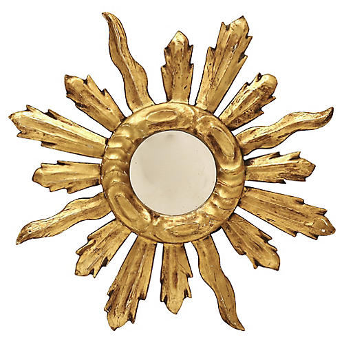 Antique French Gilded Sunburst Mirror