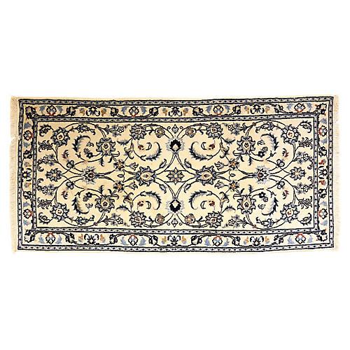 """Nain Pattern Persian Rug, 4'8"""" x 2'2"""""""