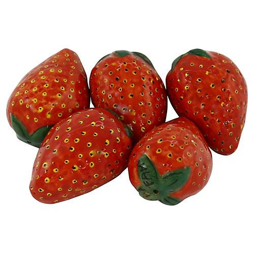 French Malicorne Faience Strawberries, 5