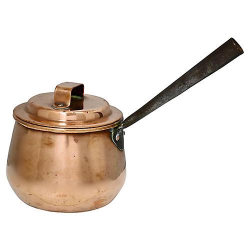 Antique English Copper Pot w/ Lid
