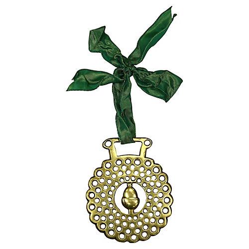 Antique Acorn Horse Brass Ornament