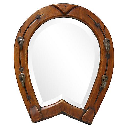 Horseshoe Tackle/Key Holder Wall Mirror
