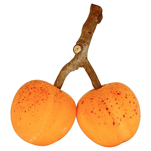 Midcentury Italian Alabaster Apricots