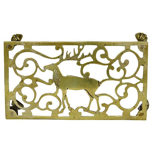 Victorian Hunting Lodge Trivet w/ Deer