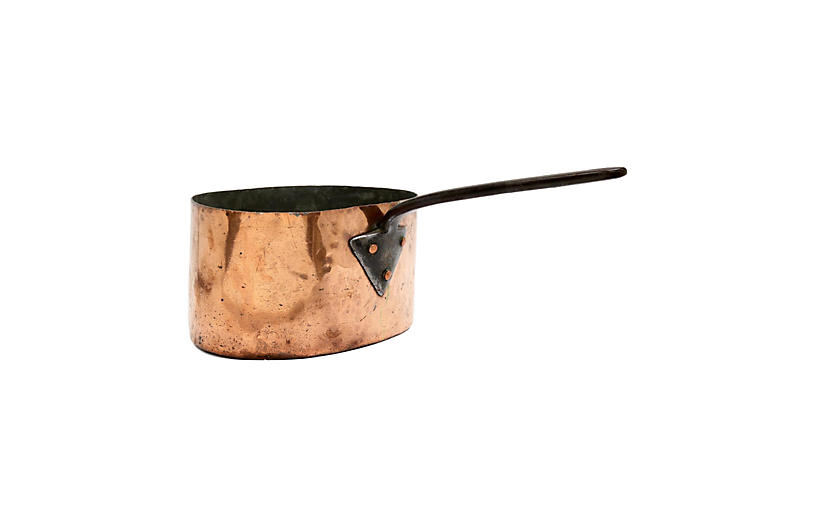 Heavy Antique Copper Brazing Pan
