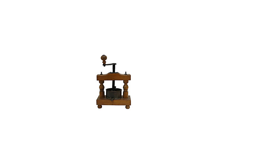 19th-C. French Fruit / Wine Press