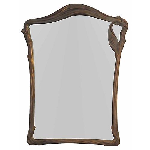 Art Nouveau-Style Lily Mirror