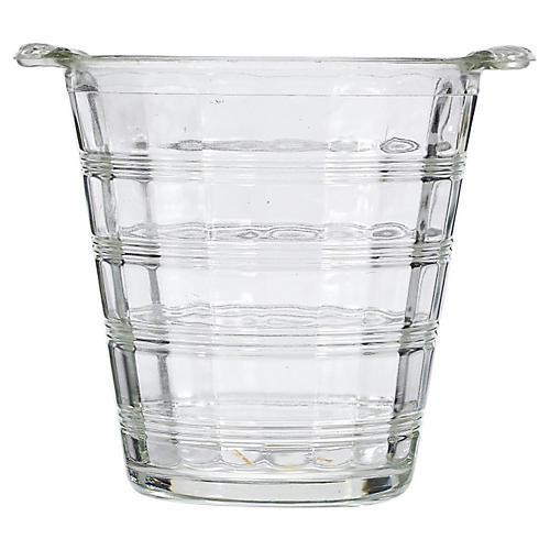 1950s Glass-Banded Ice Bucket