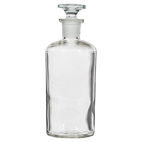 Clear Apothecary Bottle