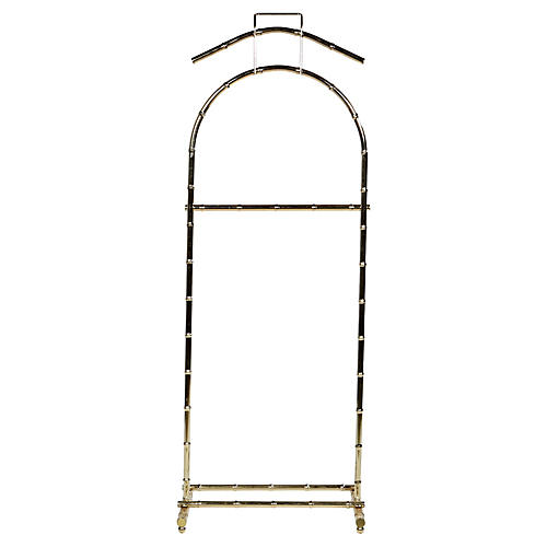 Bamboo-Style Gilt Metal Valet