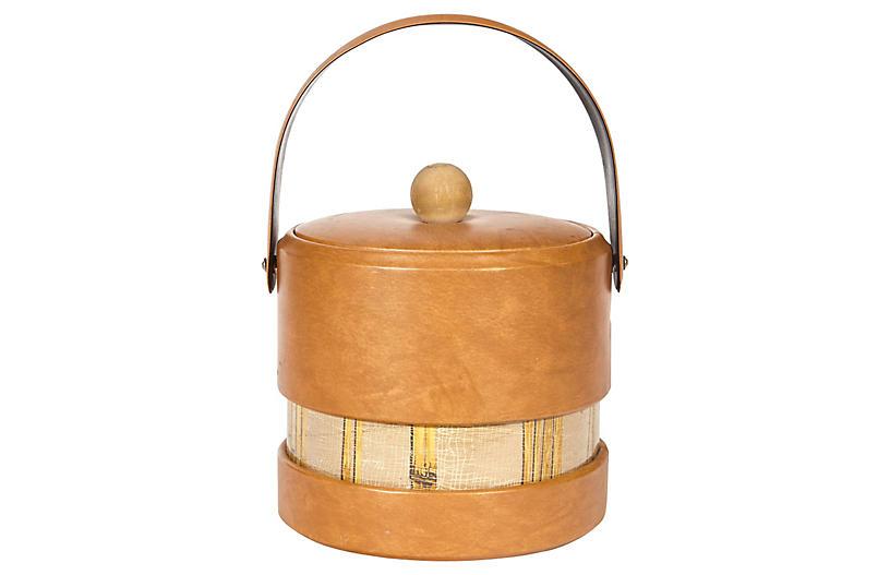 1960s Bambo-Accented Vinyl Ice Bucket