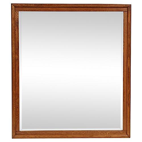 19th-C. Oak Wall Mirror