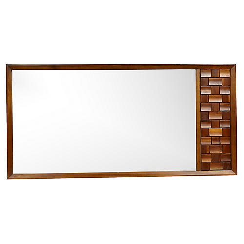 1960s Mosaic Large Wall Mirror