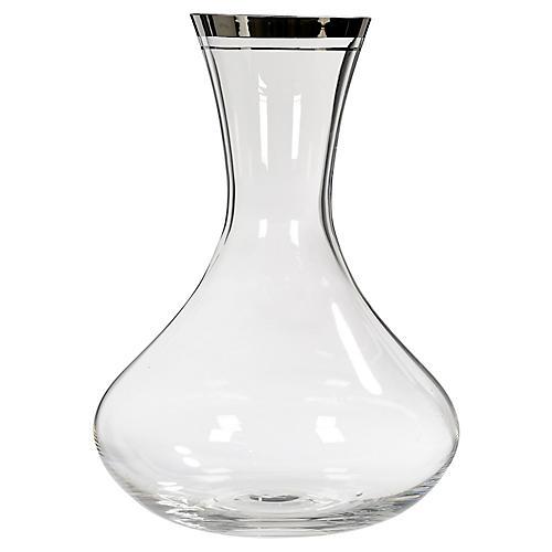 Silver Glass Wine Carafe