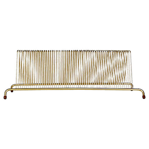 1960s Gilt Metal Record Holder