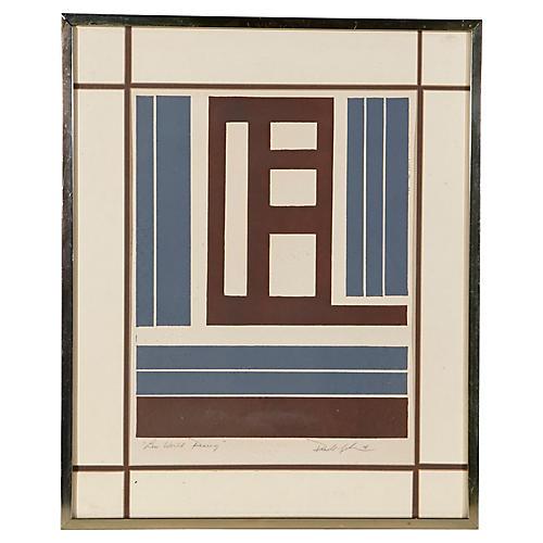 "1978 ""Lew World Rising"" Lithograph"