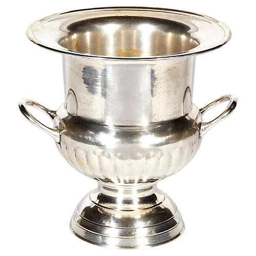 Silver-Plate Handled Champagne Bucket