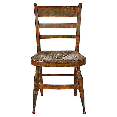 Early-19th-C. Side Chair w/ Rush Seat