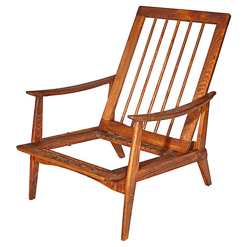 1950s Beechwood Chair Frame