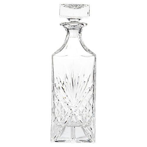 1950s Diamond Pattern Glass Decanter