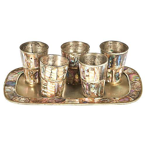 Mexican Abalone Shot Set, S/6