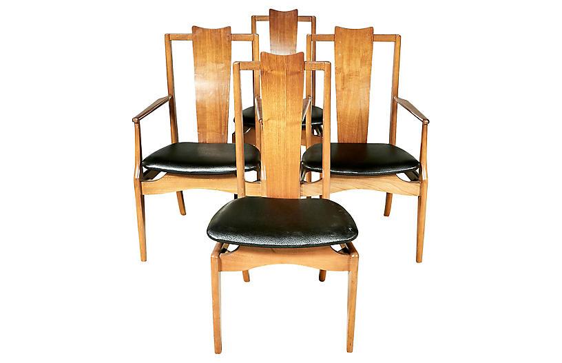 Astounding 1960S Asian Style Dining Room Chairs S 4 Spiritservingveterans Wood Chair Design Ideas Spiritservingveteransorg