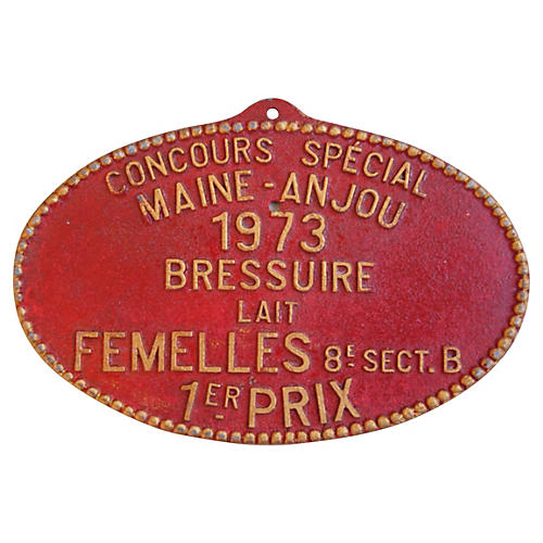 French Trophy Plaque, 1973