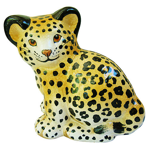 Midcentury Italian Spotted Cheetah Cub