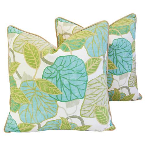 Atrium Conservatory Foliage Pillows Pair