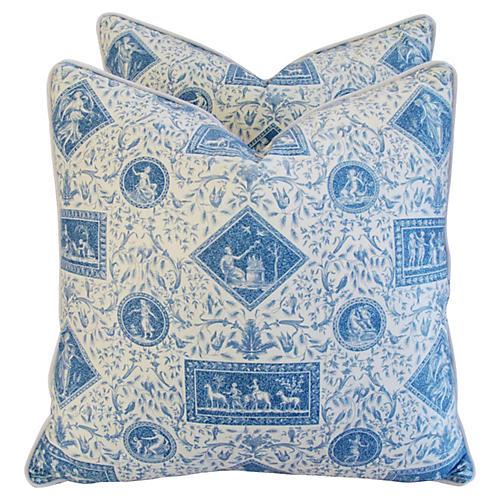 Brunschwig & Fils Pillows, Pair