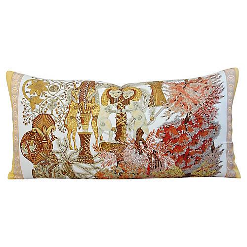 Hermès Annie Faivre Silk Lumbar Pillow