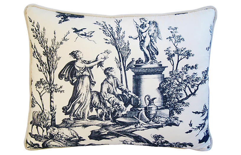 Romantic French Toile Pillow