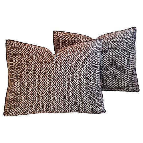 Italian Mariano Fortuny Tapa Pillows, Pr