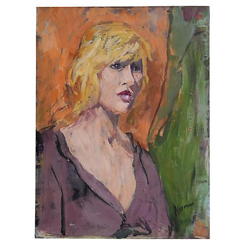 Female Portrait Painting, by Wolfstein
