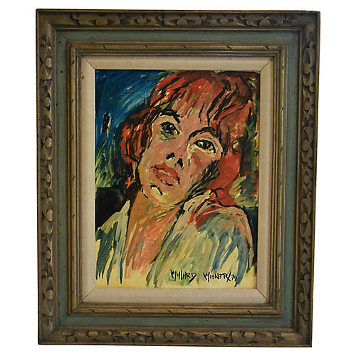 1974 Williard Wiener, Female Portrait