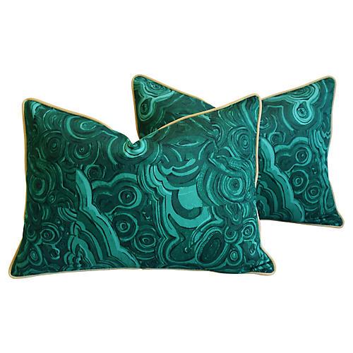 Jim Thompson Malachite Green Pillows, Pr