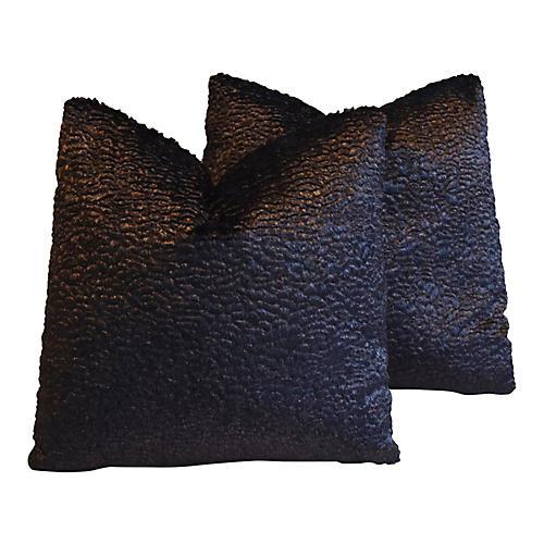 Lelievre of Paris & Leather Pillows, Pr