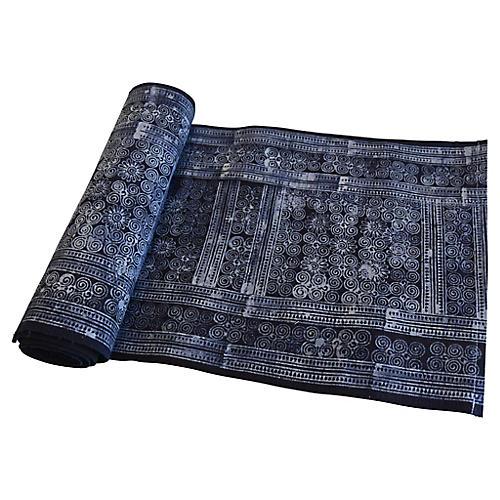 Indigo Blue & White Batik Table Runner
