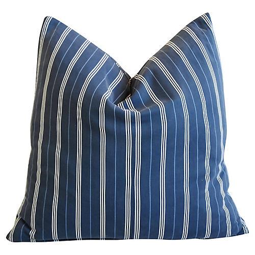 Nautical Blue & White Stripe Pillow