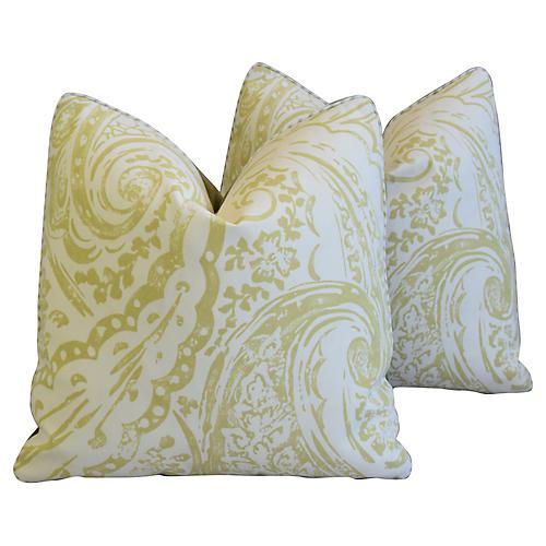 Lee Jofa Paisley & Mohair Pillows, Pair